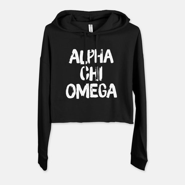 Alpha Chi Omega Graphic Sorority Cropped Sweatshirt