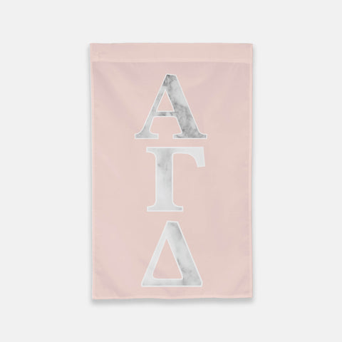 Alpha Chi Omega Vertical Greek Letter Flag