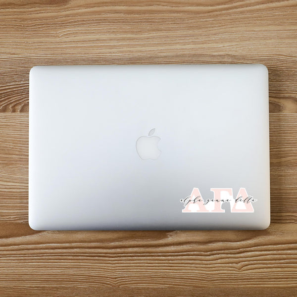 Alpha Gamma Delta Vinyl Blush Sorority Decal