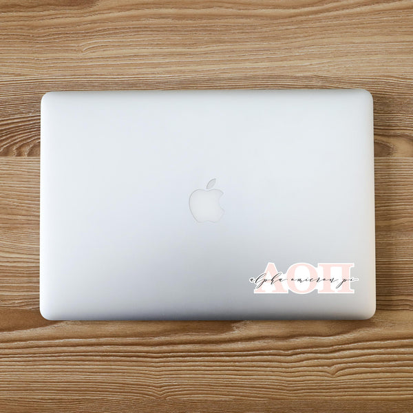 Alpha Omicron Pi Vinyl Blush Sorority Decal