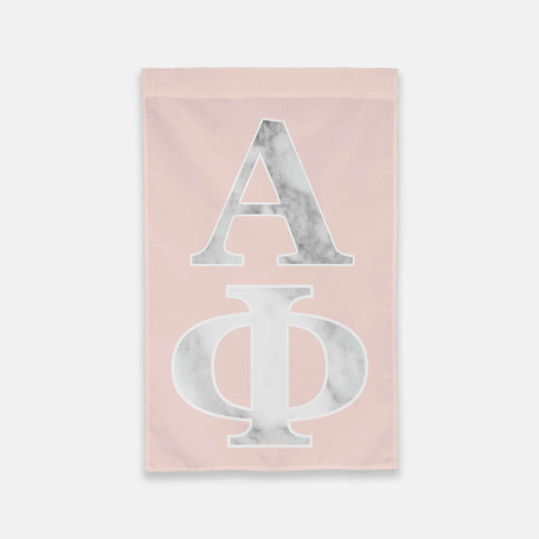 Alpha Phi Vertical Greek Letter Flag