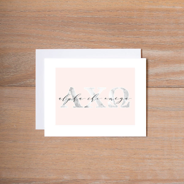 Marble & Blush sorority note cards (set of 10)