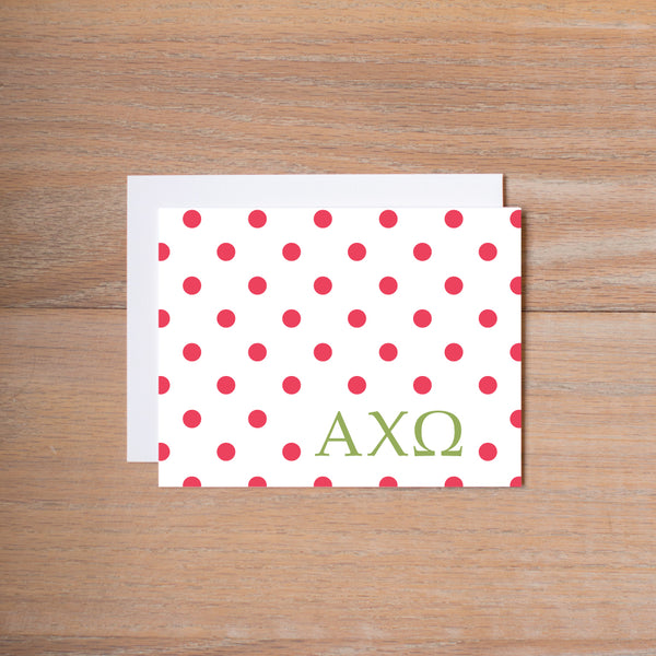 Alpha Chi Omega Dotted Sorority Note Cards