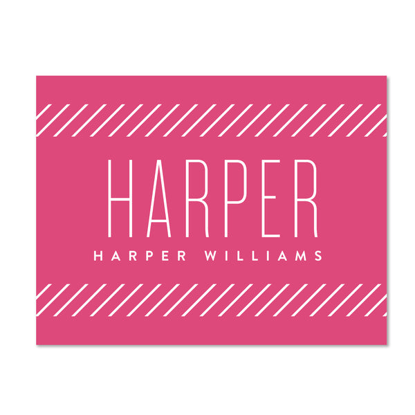 Big Name Personalized Folder Stickers