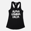 Alpha Gamma Delta Graphic Sorority Tank
