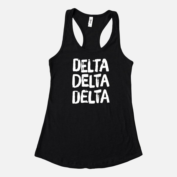 Delta Delta Delta Graphic Sorority Tank