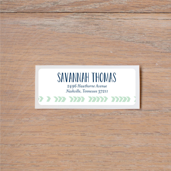 Boho Chic return (home) address label