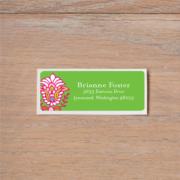 Bright Garden return (home) address label