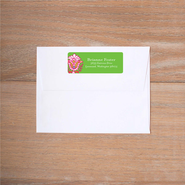 Bright Garden Return (Home) Address Label shown in Jungle