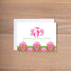 Bright Garden Folded Note Cards shown in Peony & Jungle