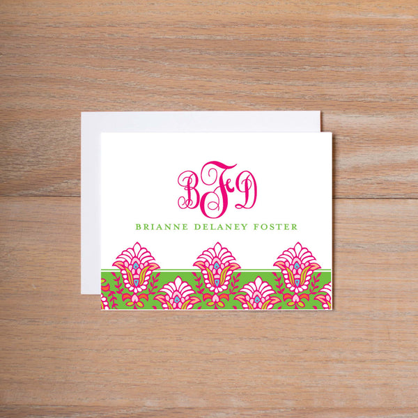 Bright Garden personal note card (if you choose to print with us, you will also receive envelopes with your note cards)