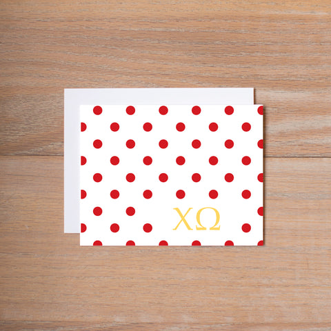 Sigma Kappa Dotted Sorority Note Card
