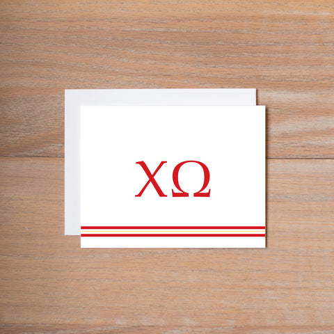 Sigma Kappa Preppy Sorority Note Card
