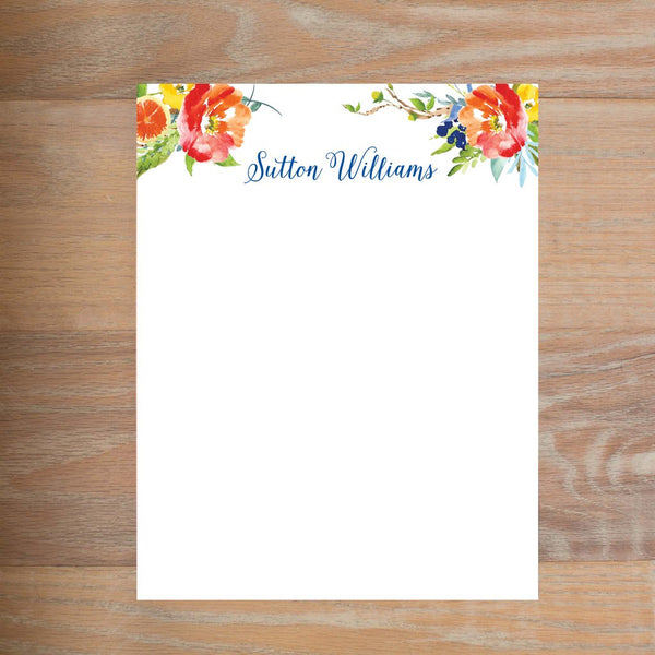 Citrus Garden social resume letterhead without formatting shown in Comet version 2