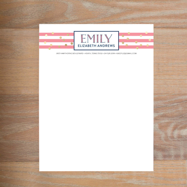Confetti Stripes Fully-Formatted Sorority Resume
