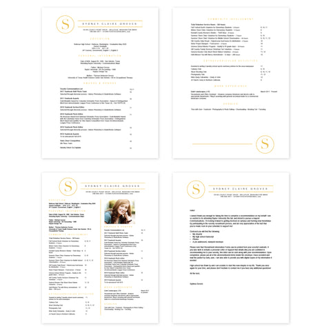 Simply Modern Initial Microsoft Word Resume Templates