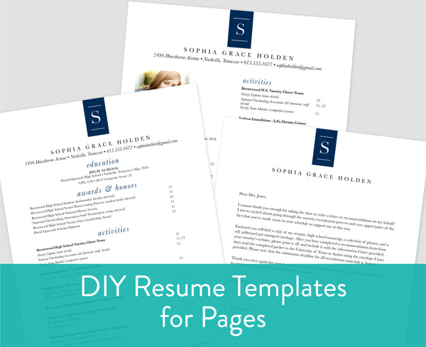 Chic Initial Pages for Mac Resume Templates