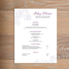 Delicate Lace social resume letterhead with full formatting shown in Grape & Plum