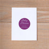 Delicate Lace Personal Sticker shown in Grape & Plum
