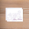 Delicate Lace Folded Note Card shown in Grape & Plum