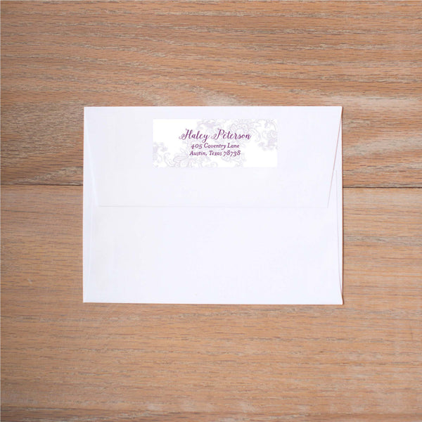 Delicate Lace Return (Home) Address Labels