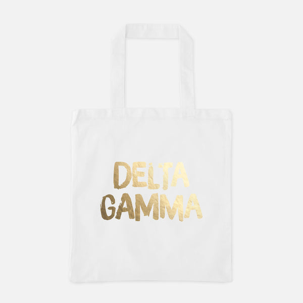 Delta Gamma Gold Foil Greek Tote