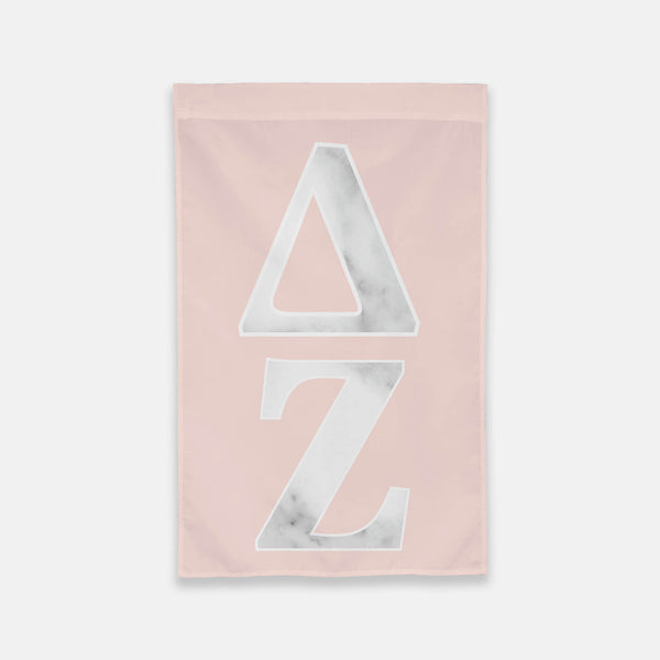 Delta Zeta Vertical Greek Letter Flag