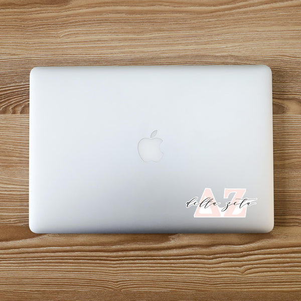 Delta Zeta Vinyl Blush Sorority Decal