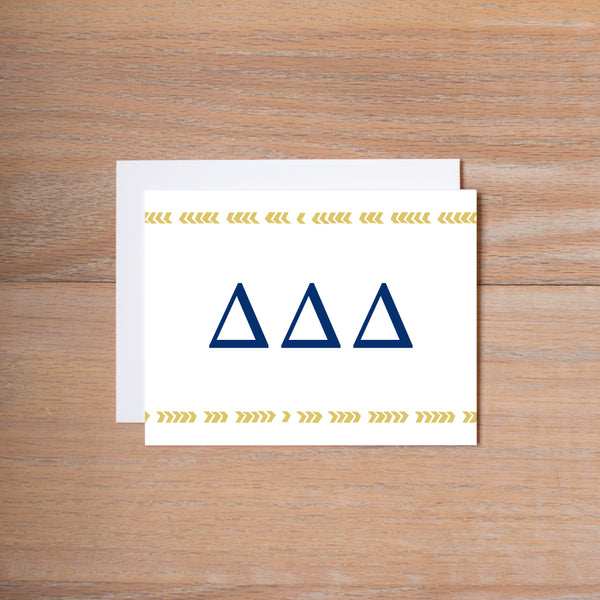 Delta Delta Delta Boho Sorority Note Cards