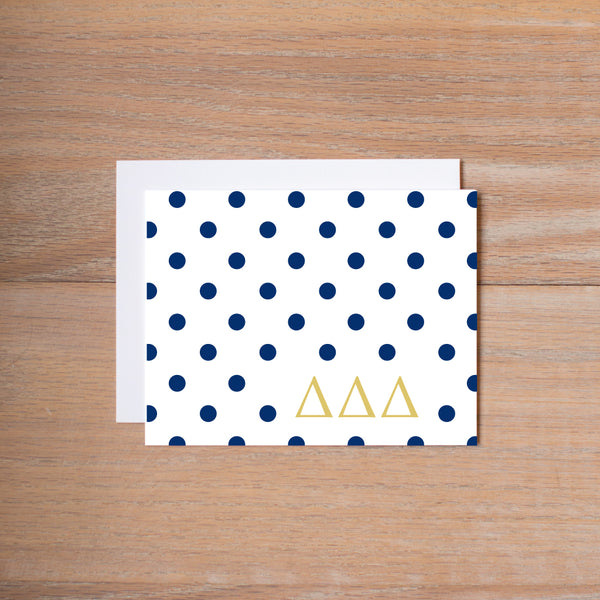 Delta Delta Delta Dotted Sorority Note Cards