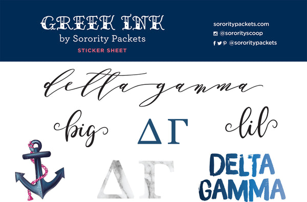Delta Gamma Sticker Set