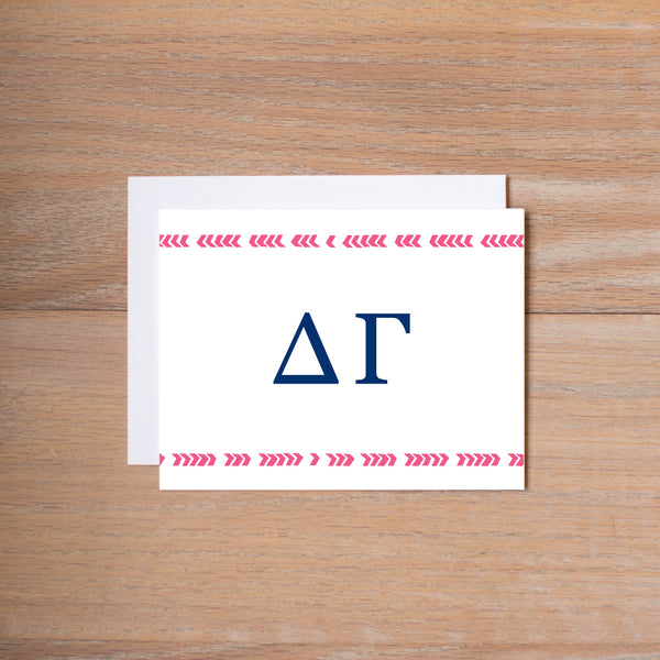 Delta Gamma Boho Sorority Note Cards