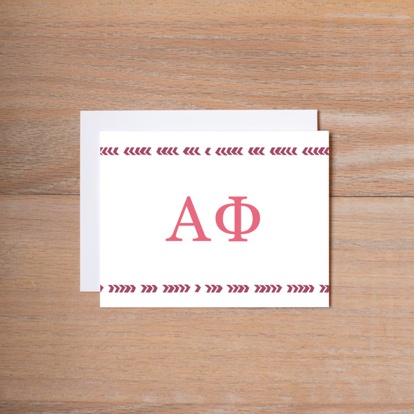 Alpha Phi Boho Sorority Note Card