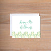 Fresh Paisley Folded Note Cards shown in Sea Glass