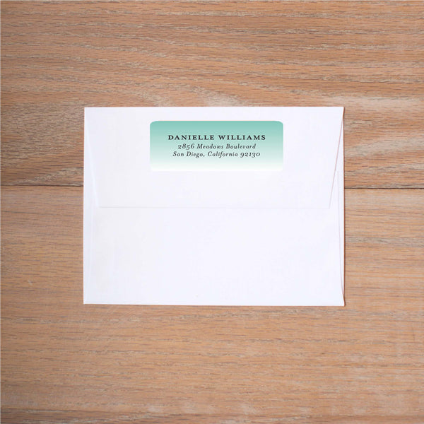 Fresh Paisley return (home) address label