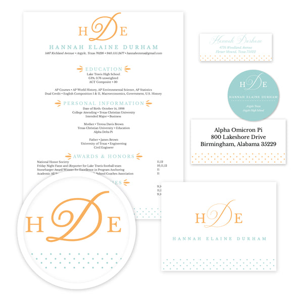 Sweet Monogram Sorority Packet