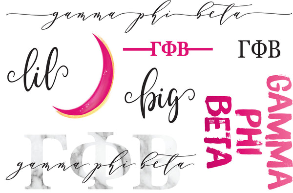 Gamma Phi Beta Sticker Set