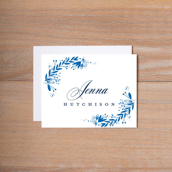 Garden Branches personal note card (if you choose to print with us, you will also receive envelopes with your note cards)