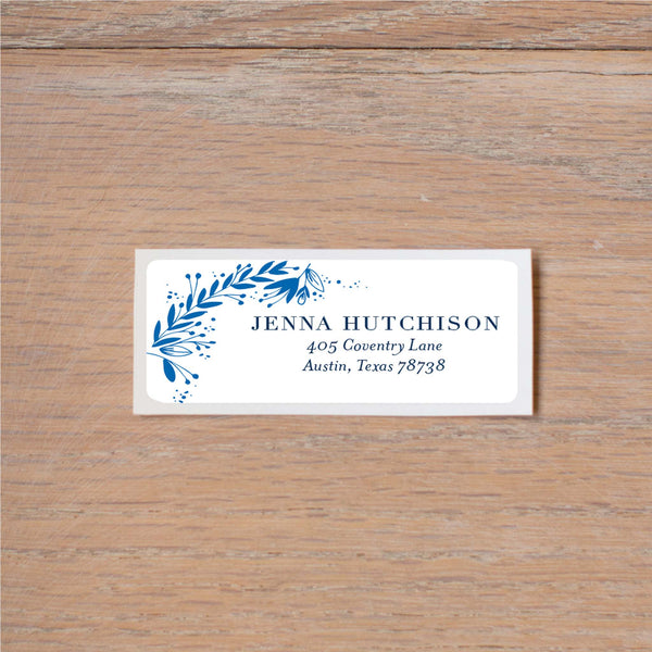 Garden Branches return (home) address label