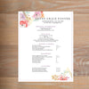 Geometric Bouquet resume shown with full formatting