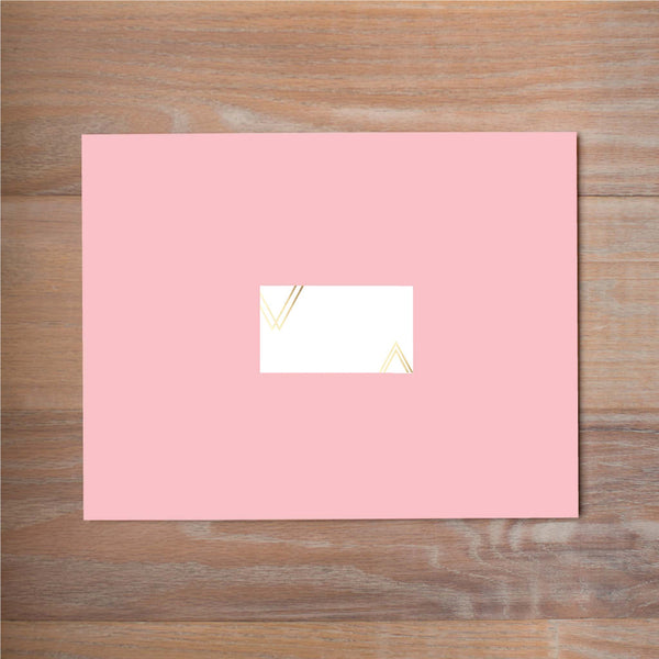 Geometric Bouquet mailing label shown on Blossom presentation envelope (not included in price but available as an add-on to your purchase)