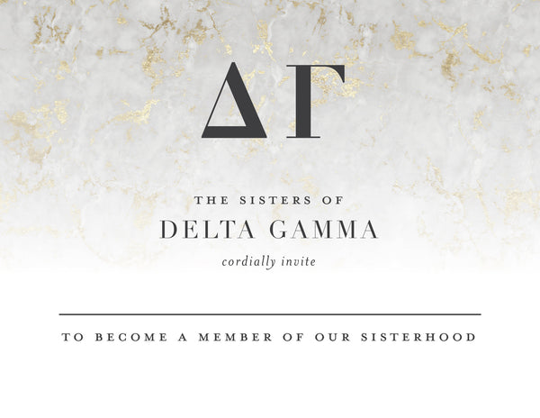 Delta Gamma Golden Marble Bid Card