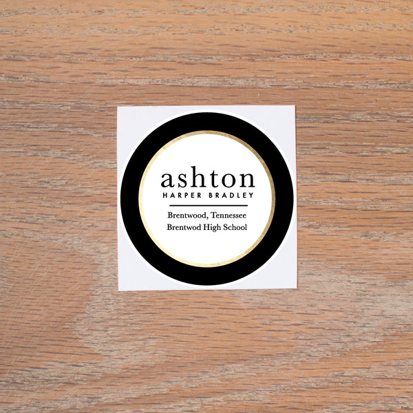 Golden Dots personal sticker
