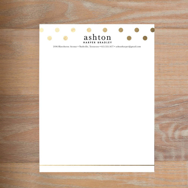 Golden Dots Fully-Formatted Sorority Resume