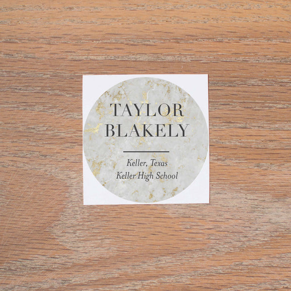 Golden Marble Personal Stickers