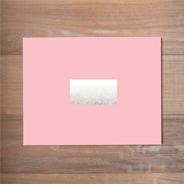 Golden Marble mailing label shown on Blossom presentation envelope (not included in price but available as an add-on to your purchase)