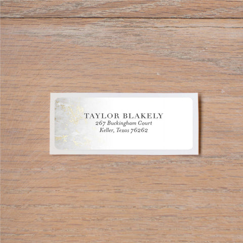Golden Marble Return (Home) Address Labels