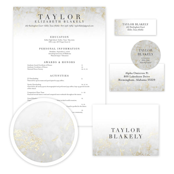Please note: This design features digitally printed faux foil to mimic the look of real gold foil; Real gold foil is not utilized.
