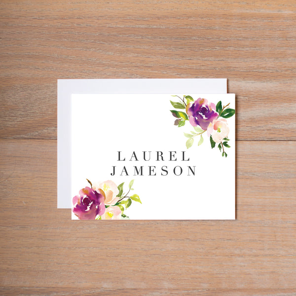 Graceful Bouquet personal note card (if you choose to print with us, you will also receive envelopes with your note cards)