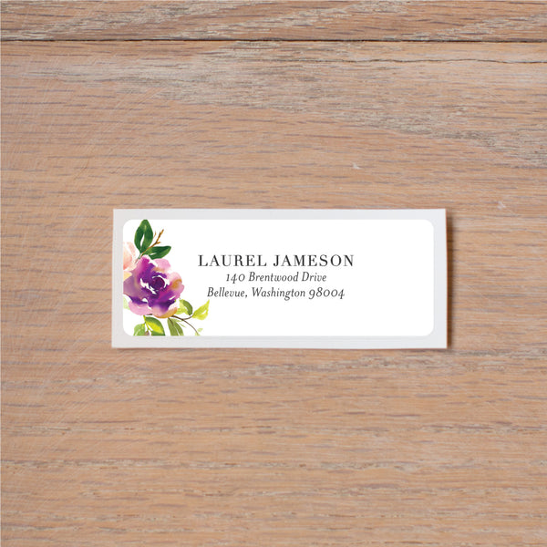 Graceful Bouquet return (home) address label